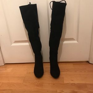 INC knee high suede boots